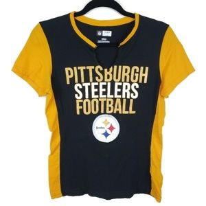Pittsburgh Steelers v-neck short sleeve NFL tee